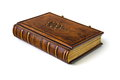 Leather book with Tree of Life symbol Royalty Free Stock Photo