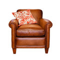 Leather chair isolated Royalty Free Stock Photography