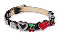 Leather charm bracelet Royalty Free Stock Photo