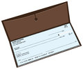 Leather checkbook Royalty Free Stock Photo