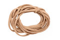 Leather cord isolated on white background Royalty Free Stock Images