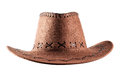 Leather cowboy hat Royalty Free Stock Photo
