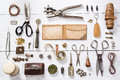 Leather craft tools Royalty Free Stock Photo
