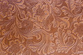 Leather Embossed Floral Pattern