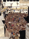 Leather factory in Fez - Marocco Stock Photography