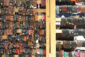 Leather goods a selection of for sale at an outdoor market Royalty Free Stock Photo