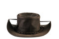 Leather hat australian style bush isolated Stock Photography