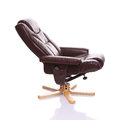 Leather heated recliner chair Royalty Free Stock Photo