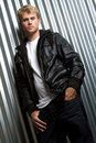 Leather Jacket Man Royalty Free Stock Photo