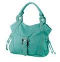 Leather lady handbag Stock Photos