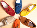 Leather moccasins Royalty Free Stock Photos