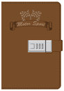 Leather notebook for lover of motor sport
