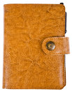 Leather notepad Royalty Free Stock Image