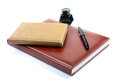 Leather organizer a pen and ink Royalty Free Stock Photography