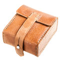 Leather pouch Royalty Free Stock Photo
