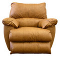 Leather Rocker Recliner Chair Royalty Free Stock Photo