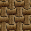 Leather rounded blocks stacked for seamless background leathe surface beige Stock Photography