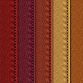 Leather samples with stitches
