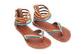Leather sandals Royalty Free Stock Photos