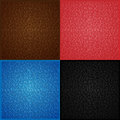 Leather Seamless Texture Set. Vector