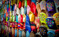 Leather slippers,marrakech,morocco Royalty Free Stock Photos