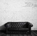 Leather sofa Stock Photo