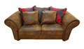 Leather sofa isolated included clipping path Stock Image