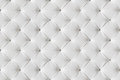 Leather Sofa Texture Seamless Background, White Leathers Pattern Royalty Free Stock Photo