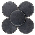 Leather table coasters Royalty Free Stock Photos