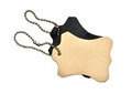 Leather tags Stock Image