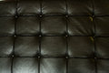 Leather texture black detail with shallow depth of field Stock Images