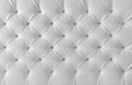 Leather upholstery white texture pattern background sofa Stock Photography