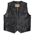Leather waistcoat vintage men s on a white background Stock Image