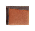 Leather wallet on white background with clipping path Stock Photography