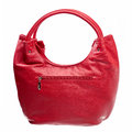 Leather women bag isolated over white Royalty Free Stock Photo