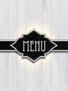 Leather and wood menu design with a texture Royalty Free Stock Photography