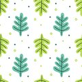 Leaves flat set. Seamless pattern Tropical plants isolated on white background. Nature simple green floral. Minimal style fantasy