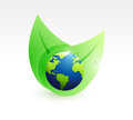 Leaves globes illustration design Royalty Free Stock Photo