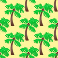 Leaves green palm trees seamless pattern vector summer leaf plant background