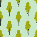 Leaves of green trees seamless pattern vector summer leaf plant background