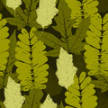 Leaves military pattern green seamless Stock Photo