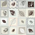 Leaves retro pattern Royalty Free Stock Photos