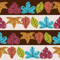 Leaves retro styled seamless pattern Stock Photos