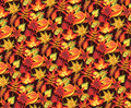 Leaves seamless autumn pattern with Royalty Free Stock Image