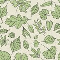 Leaves seamless pattern. Fall leaf design. Foliage forest leafs