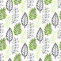 Leaves seamless pattern. Seasonal background. Can be used for wrapping, textile, wallpaper and package design