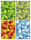 Leaves seasons a collection of seasonal leaf patterns created in adobe illustrator Royalty Free Stock Image