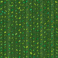 Leaves stripe line vertical seamless pattern Royalty Free Stock Photo