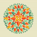 Leaves yoga mandala circle leaf shape design vector file layered for easy manipulation and custom coloring Royalty Free Stock Photos