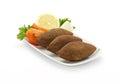 Lebanese Food of fried Kibe Royalty Free Stock Photo
